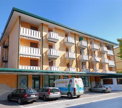 Apartmány COND. STORIONE, levné ubytování Bibione, Itálie