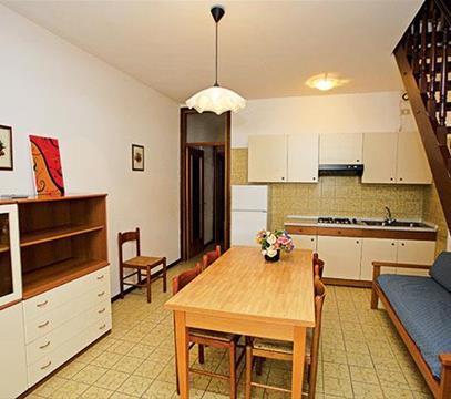 Apartmány CENTRO COMMERCIALE, levné ubytování Porto S. Margherita, Itálie
